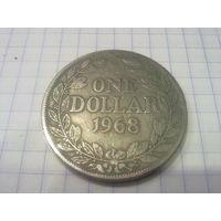 Либерия 1 доллар 1968