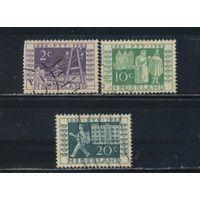 Нидерланды 1952 100-летие государственному телеграфу и почтовой марке #593,595,596