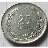 Турция 25 курушей, 1963        ( 2-6-3 )