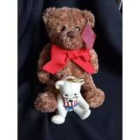 Плюшевый медведь и орнамент ёлочная игрушка фарфор, Lenox, American Bears