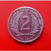 44-03 Восточные Карибы, 2 цента 2008 г.
