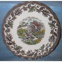 2 Блюдца/две Мини-тарелочки - от мануфактуры Myotts Country Life Fine Staffordshire Ware: Made in England. Винтажные., как на фото, только цветной расскрас может быть различен на обоих и отличаться от