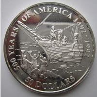 Острова Кука. 50 долларов 1991. Серебро. Пруф. 194