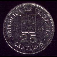 25 сентимос 1989 год Венесуэла 2