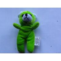 Зелёный плюшевый мишка. маленький   распродажа