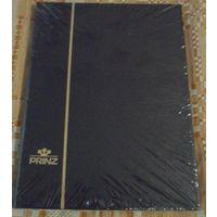 Альбом для марок PRINZ 8 чёрных листов / 16 страниц/
