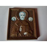 Маленькая иконка латунь, Николай чудотворец