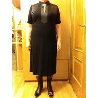 Платье черное элегантное 52-54р