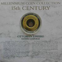 """YS: Османская империя, серебряная монета, XV век, серия """"Монеты тысячелетия"""""""