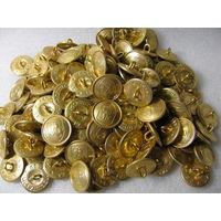 """Пуговицы. Большие с гербом """"Погоня"""" РБ периода 1992-1996г. (в золоте) (диаметр 22 мм). цена за 1 шт."""