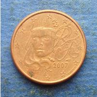 Франция 1 евроцент 2007