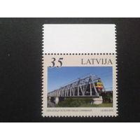 Латвия 2012 мост, поезд