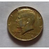 1/2 доллара США 1968 D,  ПОЗОЛОТА