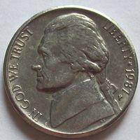 США. 5 центов 1987 P