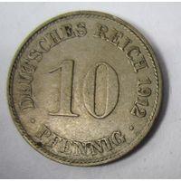 Германия. 10 пфеннигов 1912 D .  1-41