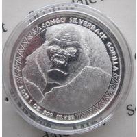 Конго, 5000 франков, 2018, серебро