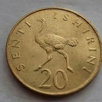 20 сенти, Танзания 1982 г., страусиха