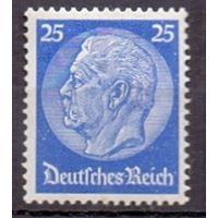 Германия Стандарт Гинденбург 25 pf (*) 1934 г