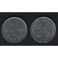 Финляндия km44a 1 пенни 1973 год (h01)