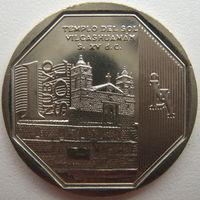 Перу 1 соль 2012 г. Богатство и гордость Перу. Храм Солнца в Вилькасуаман