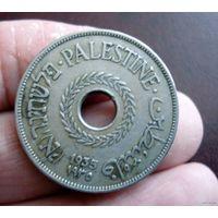 Палестина (Британская администрация). 20 милс 1935 г. Редкая.