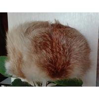 Шапка ушанка из лисы