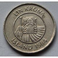 Исландия 1 крона, 1984 г.