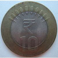 Индия 10 рупий 2014 г. (gl)