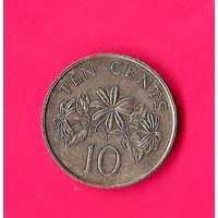14-35 Сингапур, 10 центов 1990 г.