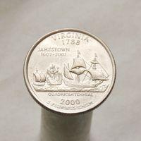США 25 центов 2000 D Виргиния