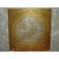 Картина интерьерная. Холст, подрамник. Текстурная паста, акрил, акриловый лак. 50х50 см.
