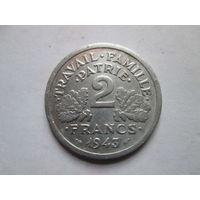 2 франка, Франция 1943 г.