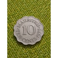 Маврикий 10 цент 1975 г