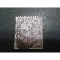 Ямайка, колония Англии 1889 королева Виктория 1 пенни