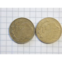 Намибия 1 доллар (список)