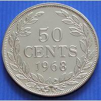 Либерия. 50 центов 1968 год  KM#17a.2    Тираж: 1.000.000