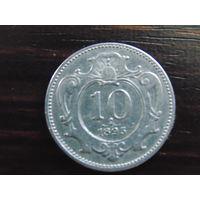 Австро-Венгрия 10 геллеров 1895 г.