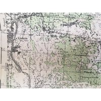 Карта Любань Минская область Вермахт 1942 г размер 44 на 34 см