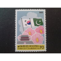 Корея Южная 1985 Визит президента Пакистана, флаги