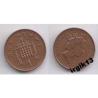 1 пенни 1993 года. Великобритания