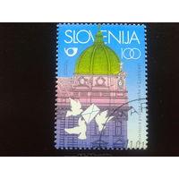 Словения 1996 100 лет почте, почтовые голуби