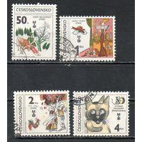 VIII биеннале иллюстраций книг для детей и юношества в Братиславе Чехословакия 1981 год 4 марки