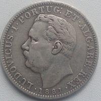 Португальская Индия 1 рупия 1881г