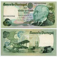 Португалия. 20 эскудо (образца 1978.10.04 года, P176b, подпись 1, aUNC)