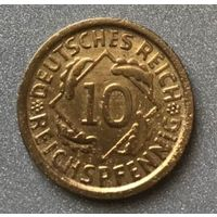 Германия 10 рейхспфеннингов 1925 г.