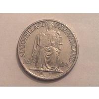 Ватикан 1 лира 1942г