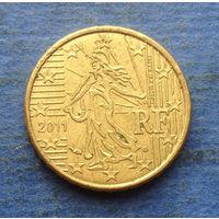 Франция 10 евроцентов 2011