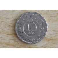 Австрия 10 геллеров 1895