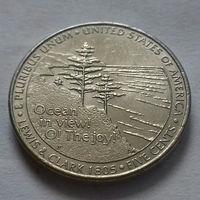 5 центов, США 2005 P, экспедиция Льюиса и Кларка, выход к океану
