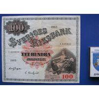 100 крон Швеция 1963
